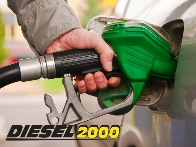 logo of diesel2000 superimposed on image of a person pumping fuel into vehicle