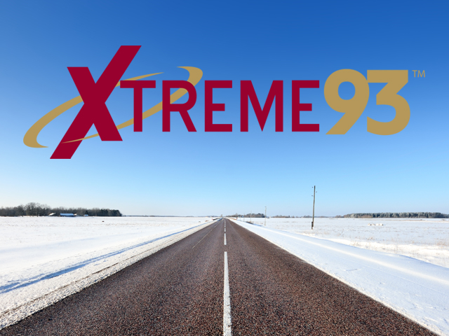 logo for xtreme93 superimposed on image of a straight road leading into the horizon