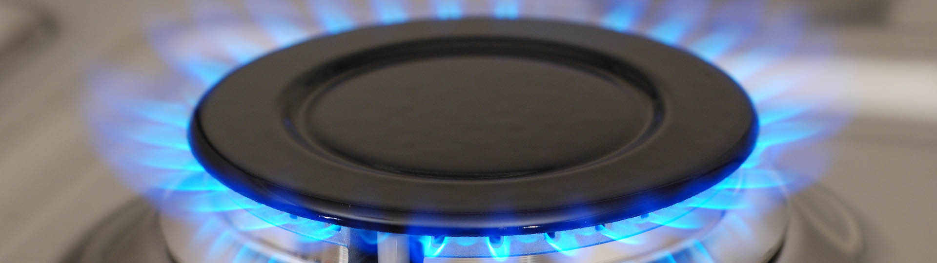 zoomed in frontal view of a propane burner
